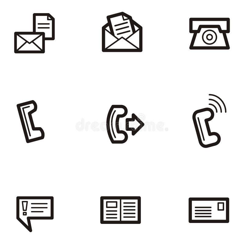 Plain Icons - Communications vector illustration