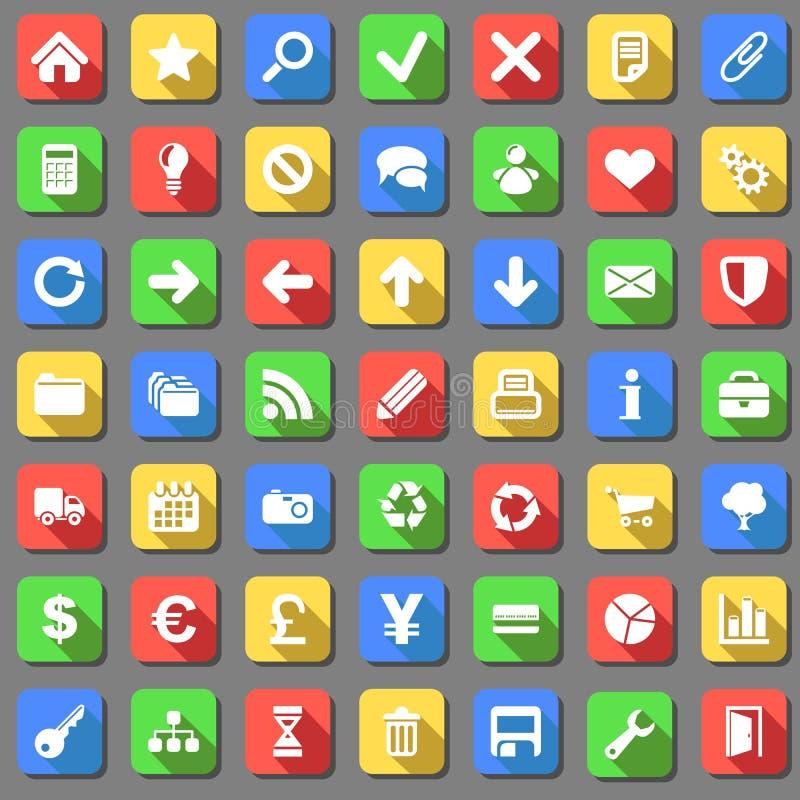 Plain icons set stock illustration