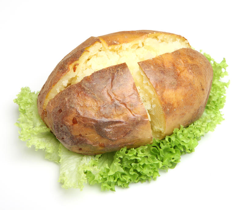 Download Plain Jacket Potato stock photo. Image of cooked, simple - 33600870