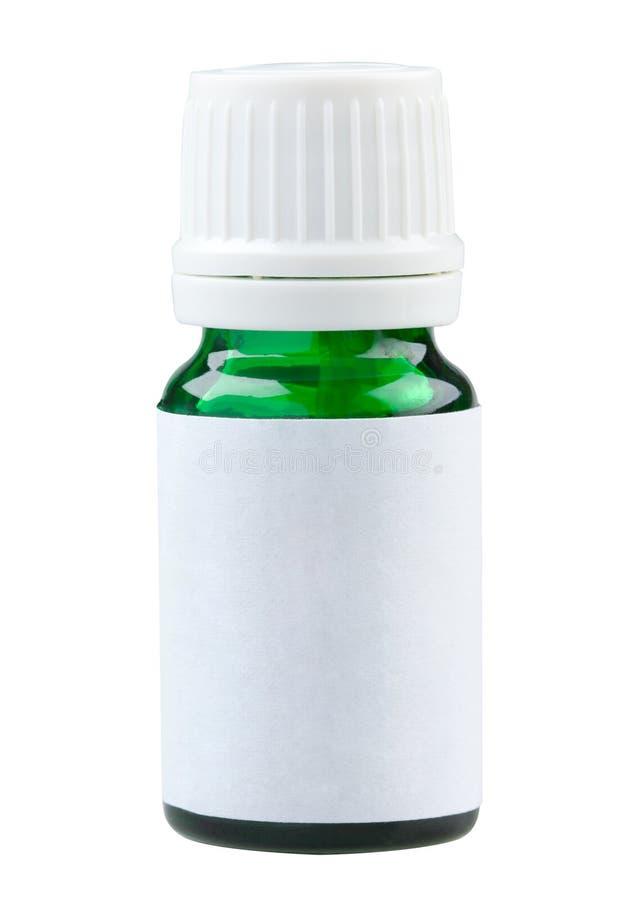 Download Plain Label Green Glass Medicine Bottle Stock Image - Image: 25844607
