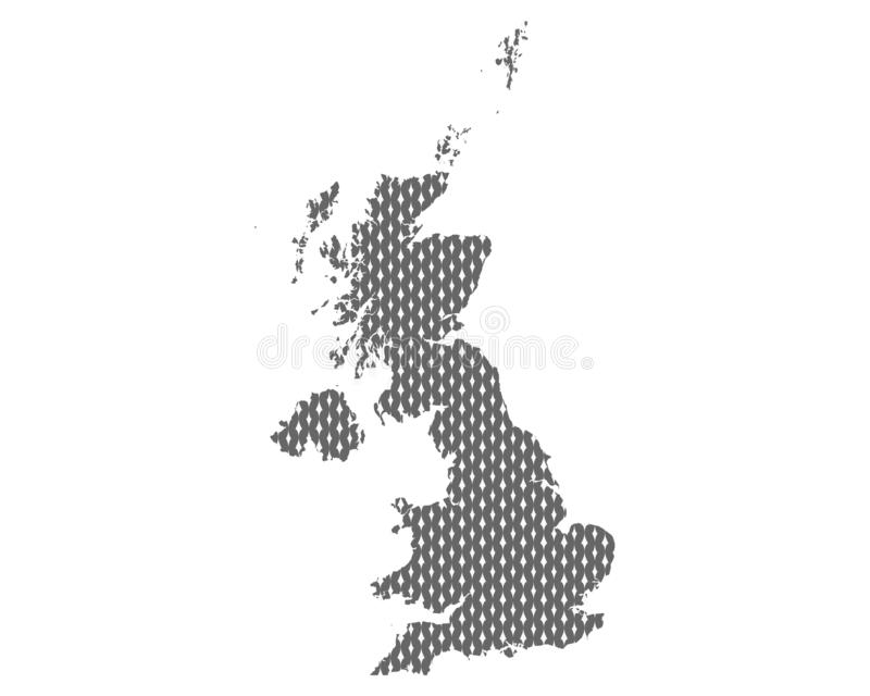 Plain map of the United Kingdom. Detailed and accurate illustration of plain map of the United Kingdom vector illustration