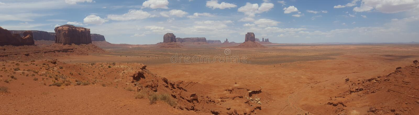 Plain Panorama United States Monument Valley Arizona. Famous places of United States of America USA: Panorama of Monument Valley Landscape Arizona Utah; scene stock photography