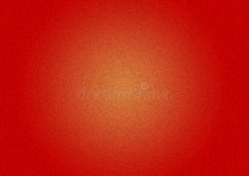 Plain red textured background with yellow gradient royalty free stock photos