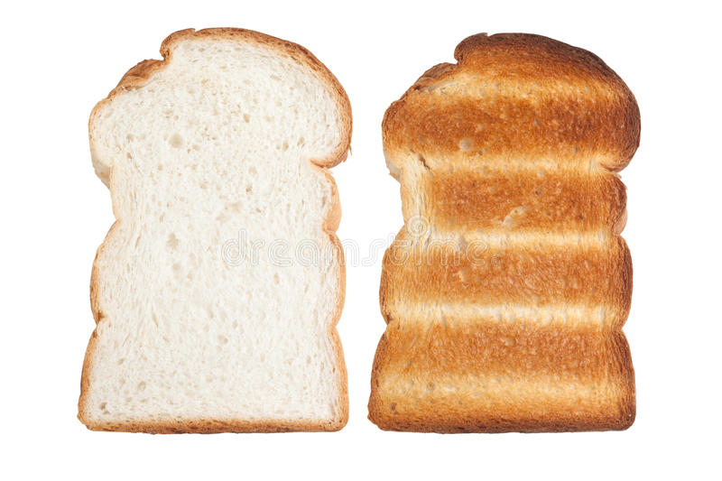 Plain sliced bread and toast stock photo