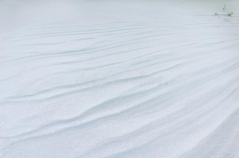 A plain snowbound field royalty free stock photo