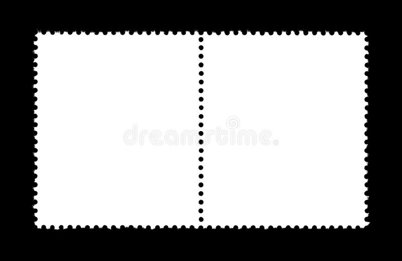 Plain stamp stock illustration