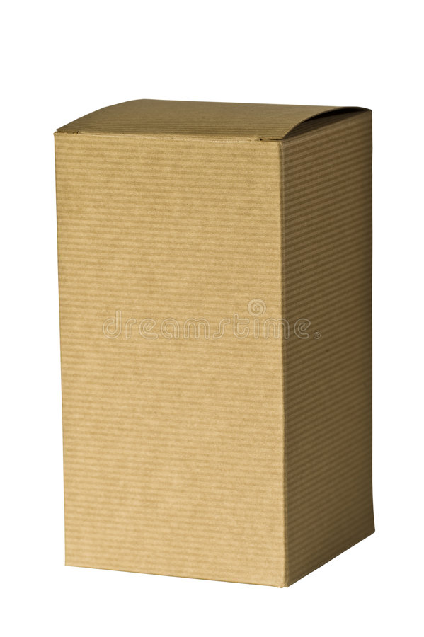 Free Plain Tall Brown Gift Box Royalty Free Stock Photography - 5043817