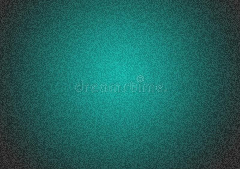 Plain turquoise textured background with gradient stock image