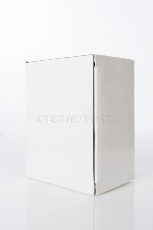 Plain White box stock image. Image of board, container ...
