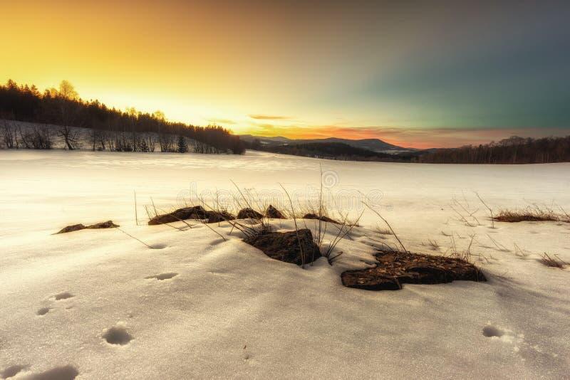 Plaine de neige images stock
