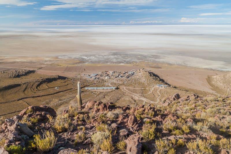 Plaine de sel de Salar de Uyuni en Bolivie photos libres de droits