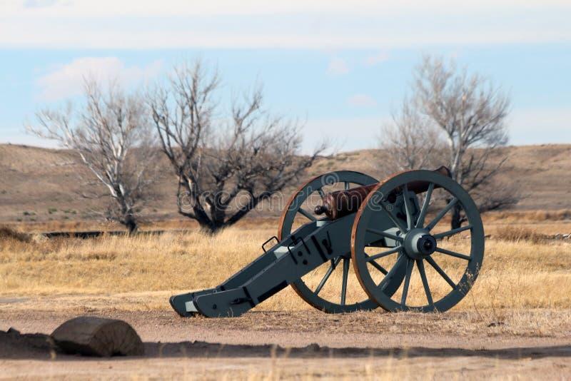 Plaines entourant le site historique national plié de vieux fort du ` s image stock