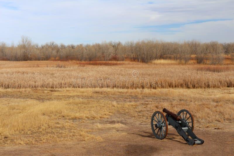 Plaines entourant le site historique national plié de vieux fort du ` s photo stock