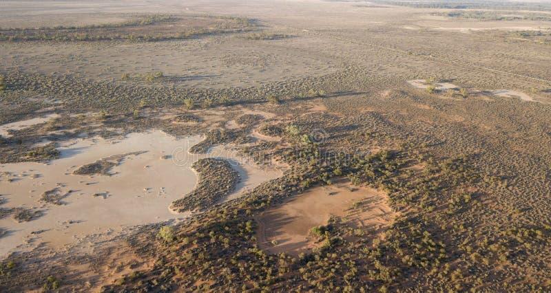 Plaines inondables de la rivière Darling photo stock