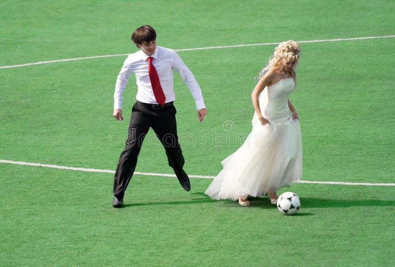 plaing para futbol zdjęcie stock