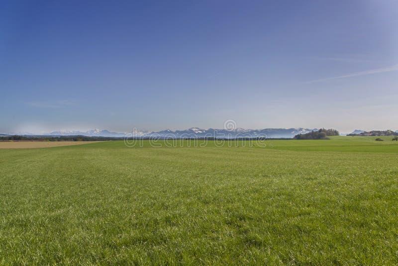 Plains. Tranquil plains near German Alps stock images