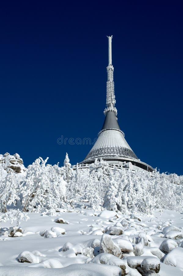 Plaisanté en hiver photographie stock