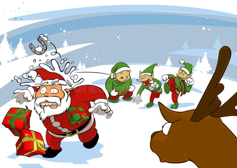 Plaisanterie de Santa image libre de droits