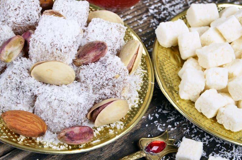 Plaisir turc avec la noix de coco photo stock