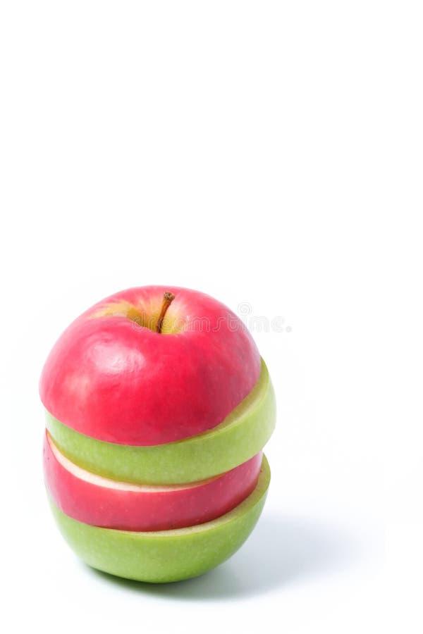 Plak rode en groene appelen royalty-vrije stock foto