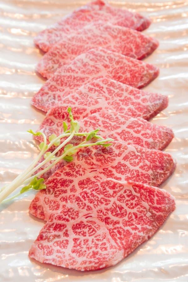 Plak ruw vlees royalty-vrije stock fotografie