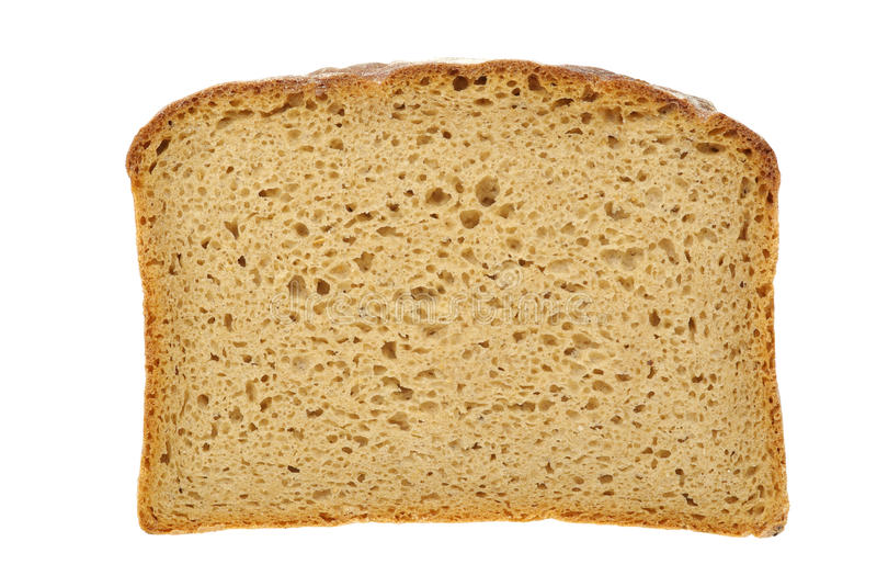Plak van bruin brood met het knippen van wegen stock foto