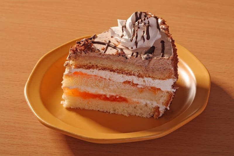 Plak van cake royalty-vrije stock afbeeldingen