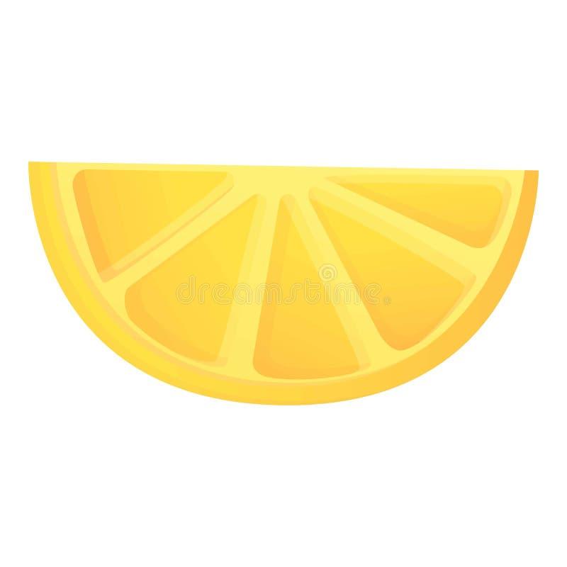 Plak van citroenpictogram, beeldverhaalstijl stock illustratie