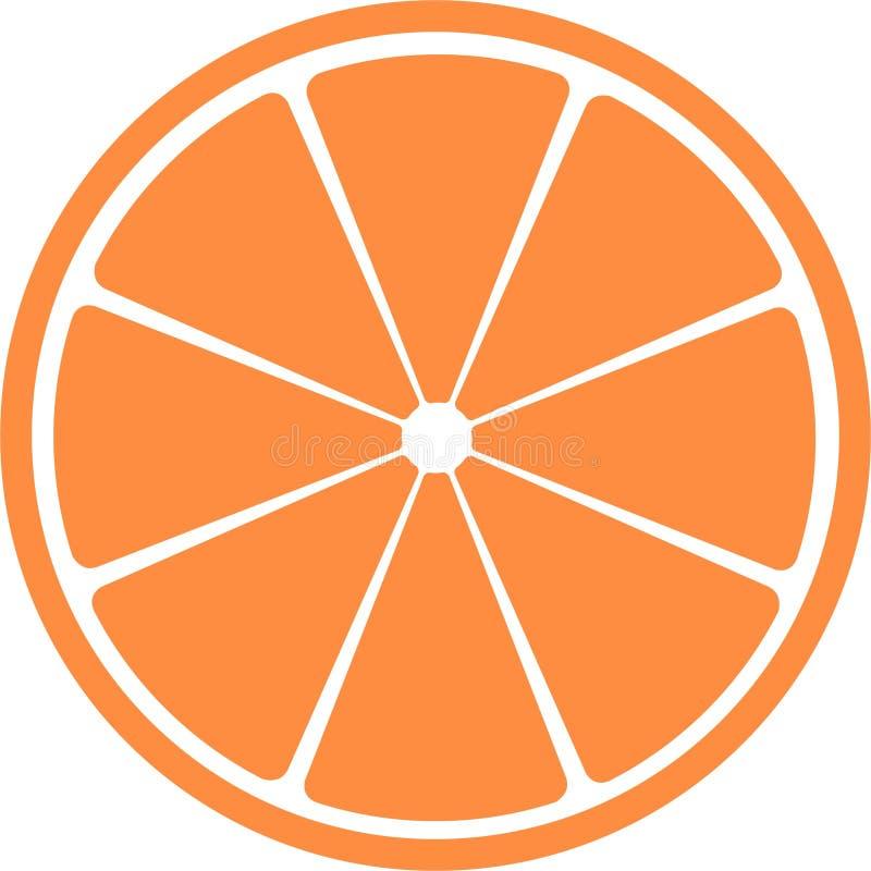 Plak van citrusvruchten. stock illustratie
