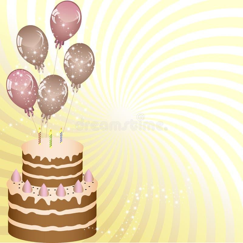 Plak van de Ballons van de Verjaardag vector illustratie