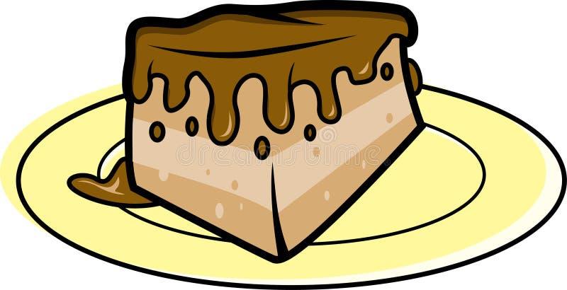 Plak van de cake van de Chocolade royalty-vrije illustratie