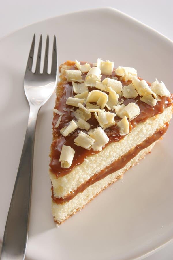 Plak van gelaagde cake royalty-vrije stock fotografie