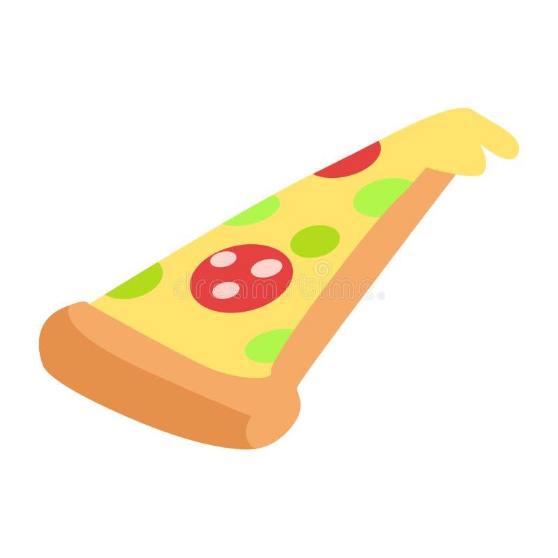 Plak van Hand Getrokken Smakelijke Pepperonispizza stock illustratie