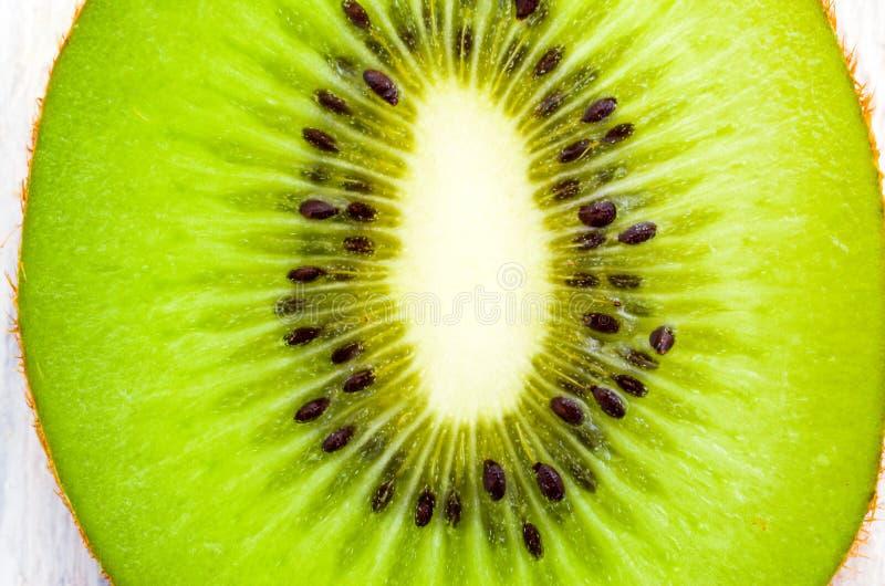 Plak van kiwi Kiwi in een besnoeiing Textuur en achtergrond van kiwi royalty-vrije stock fotografie