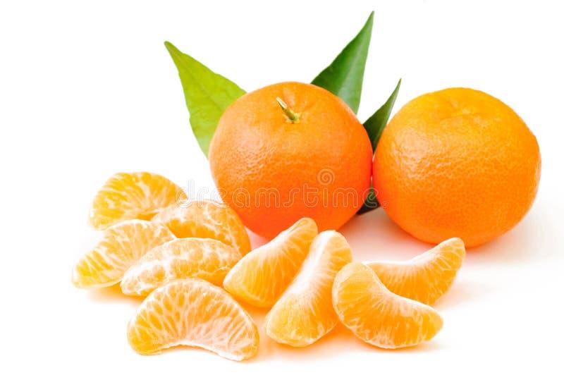 Plak van mandarin, mandarijn, plak, smakelijke mandarijn, smakelijke slic stock foto's