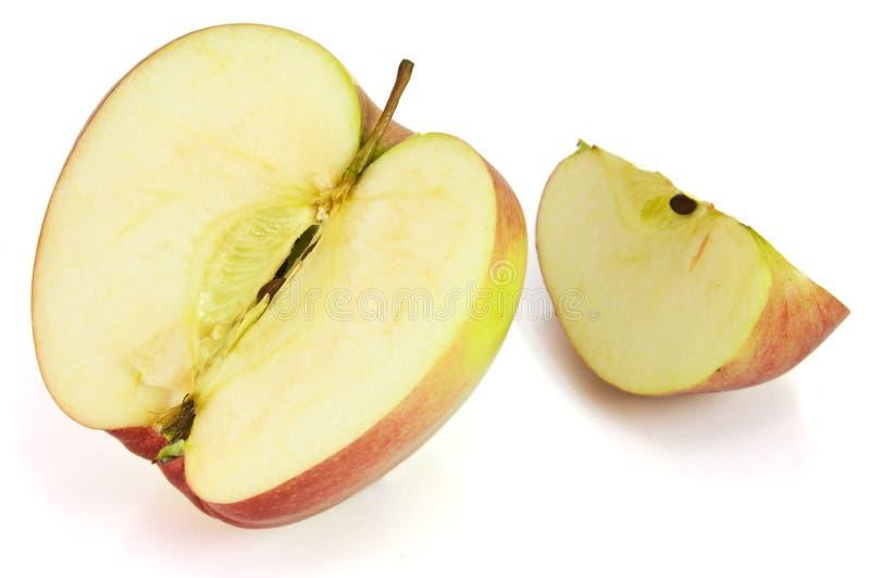 Plak van Rode appel stock foto