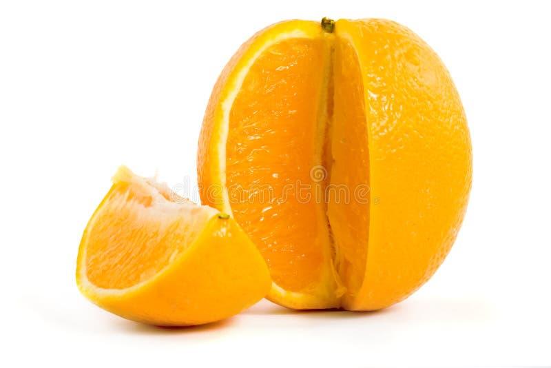Plak van sinaasappel stock afbeeldingen