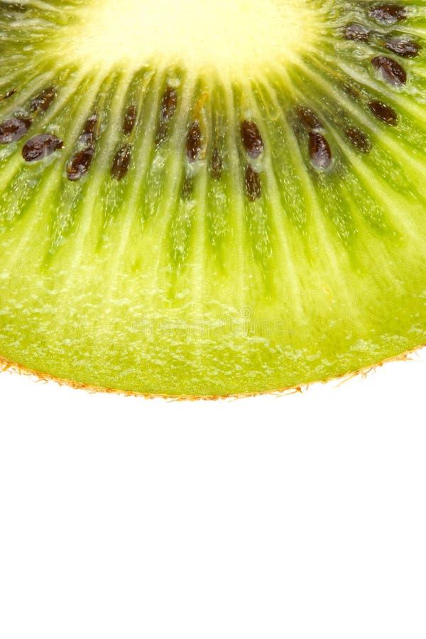 Plak van vers kiwifruit op witte achtergrond royalty-vrije stock foto's