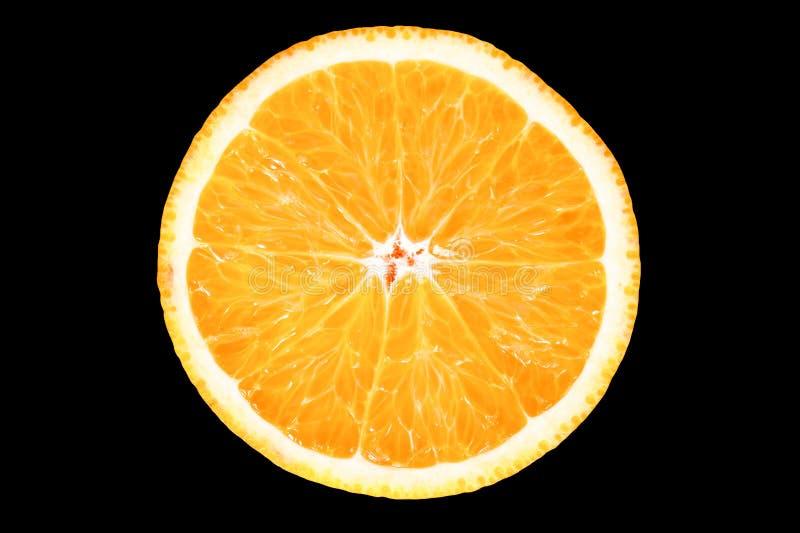 Plak van verse sinaasappel royalty-vrije stock foto