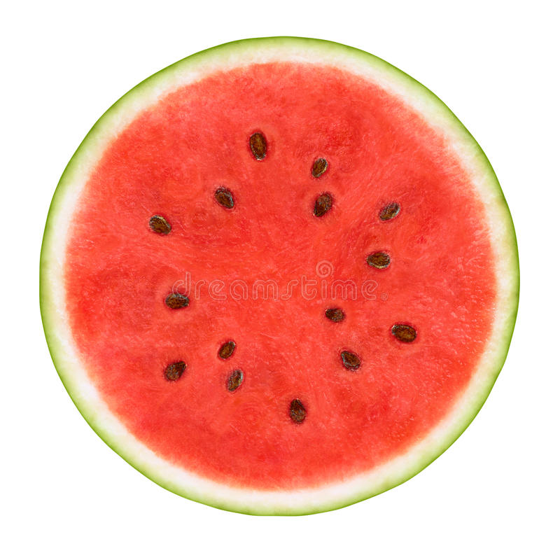 Plak van Watermeloen royalty-vrije stock afbeeldingen