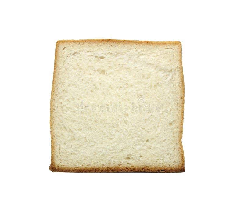 Plak van wit die brood op witte achtergrond met het knippen van weg wordt geïsoleerd royalty-vrije stock foto's