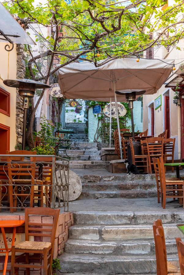 Plaka district in Athens, Greece royalty free stock photography