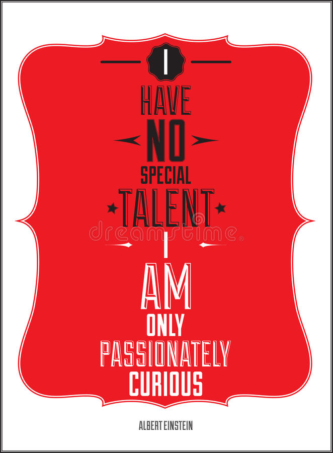 Plakat. Żadny specjalnego talent jestem tylko pasyjny ilustracji