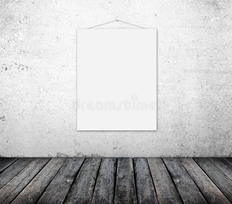 Plakat auf Wand stockfotos