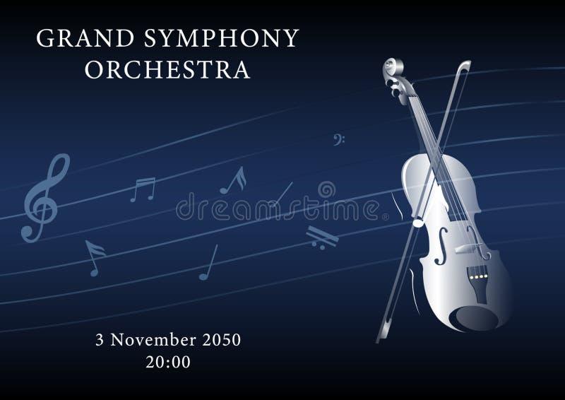 Plakat der klassischen Musik stock abbildung