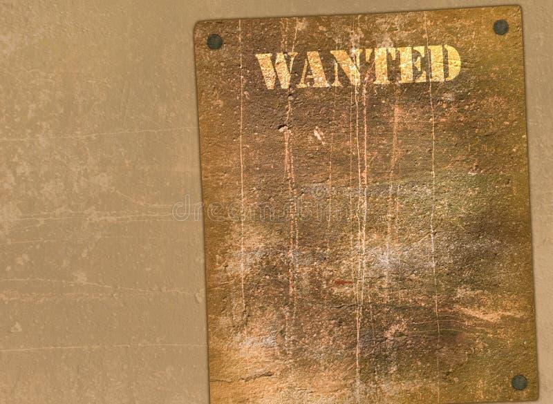 Plakat in der wilden Westart stockfoto