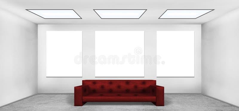 Plakat des freien Raumes drei stock abbildung