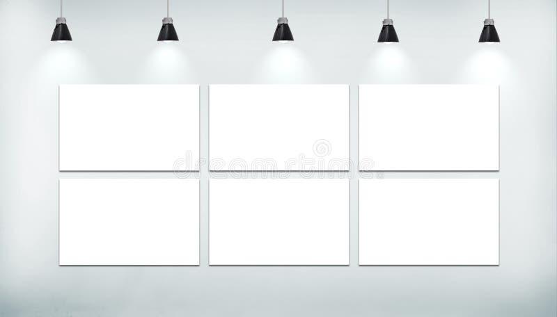 Plakat des freien Raumes sechs stock abbildung
