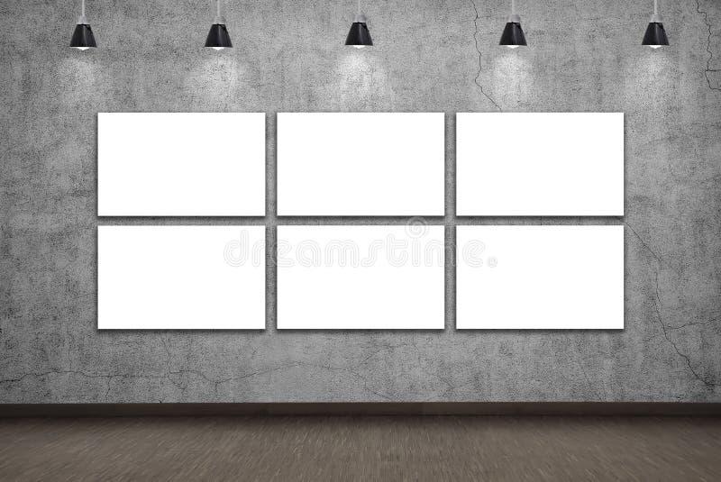 Plakat des freien Raumes sechs lizenzfreie abbildung