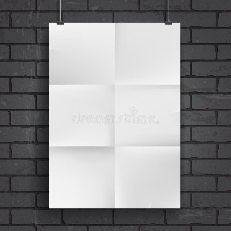 Plakat des leeren Papiers vektor abbildung